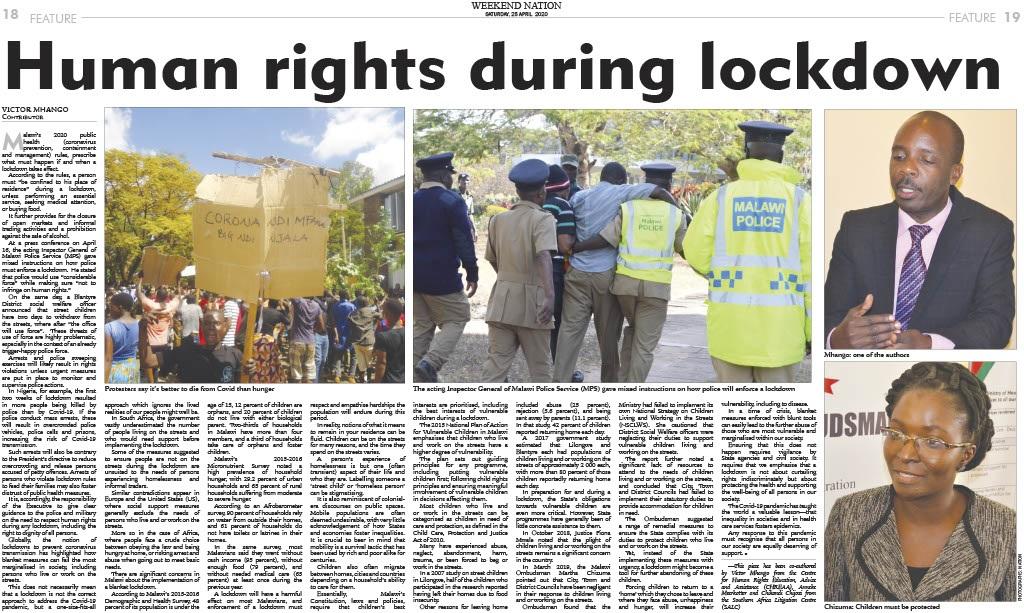 Malawi: Human rights during a lockdown