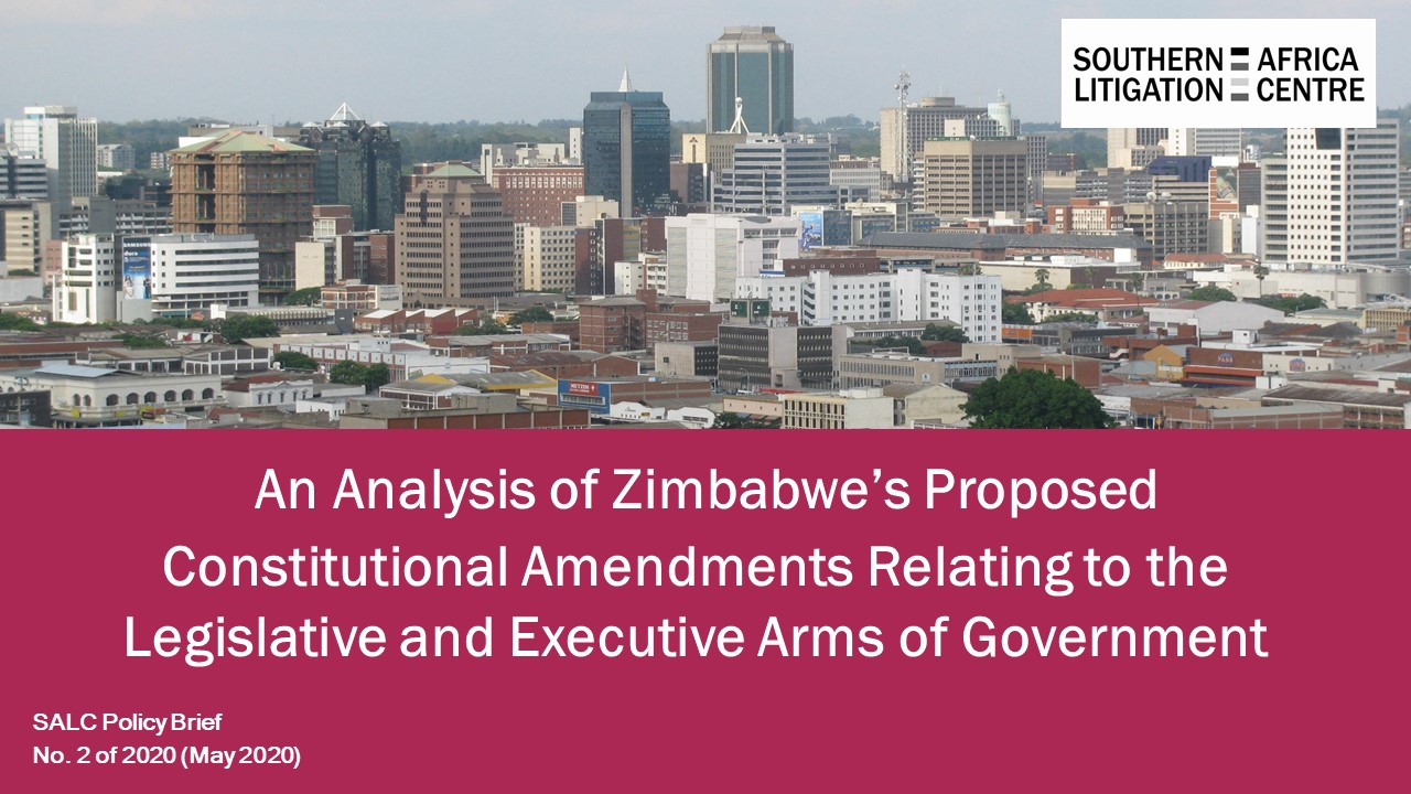 SALC Policy Brief: AN ANALYSIS OF ZIMBABWE'S PROPOSED CONSTITUTIONAL AMENDMENTS RELATING  TO THE LEGISLATIVE AND EXECUTIVE ARMS OF GOVERNMENT