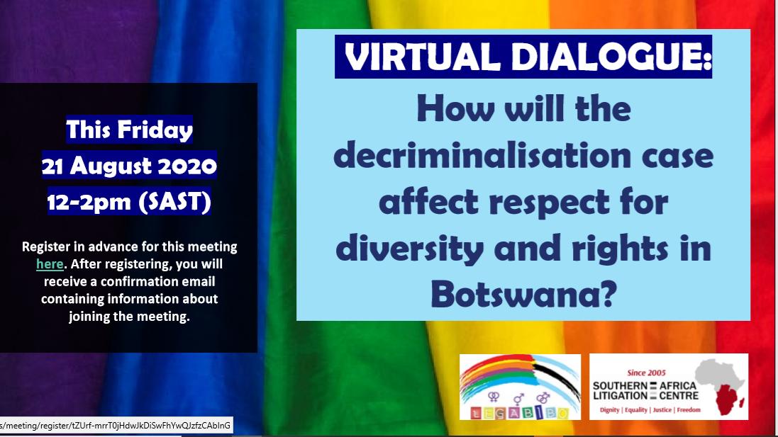 SALC and LEGABIBO hosting a Virtual Dialogue