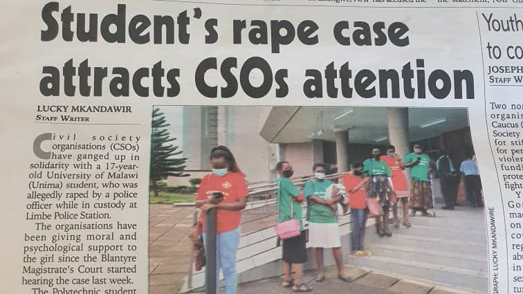 SALC in the news: Student's rape case attracts CSOs attention