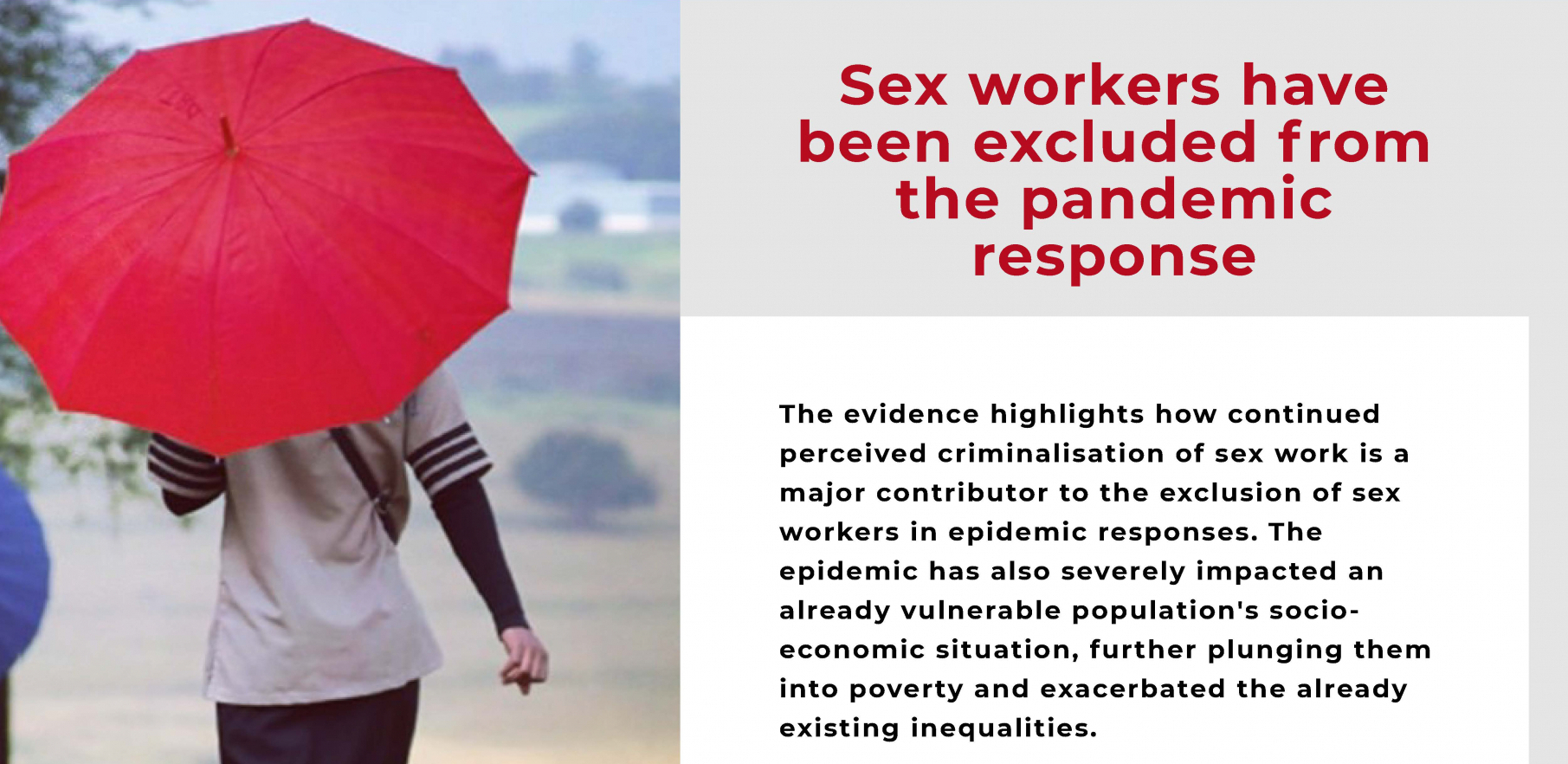 The impact of the Covid-19 pandemic on sex workers in Southern Africa